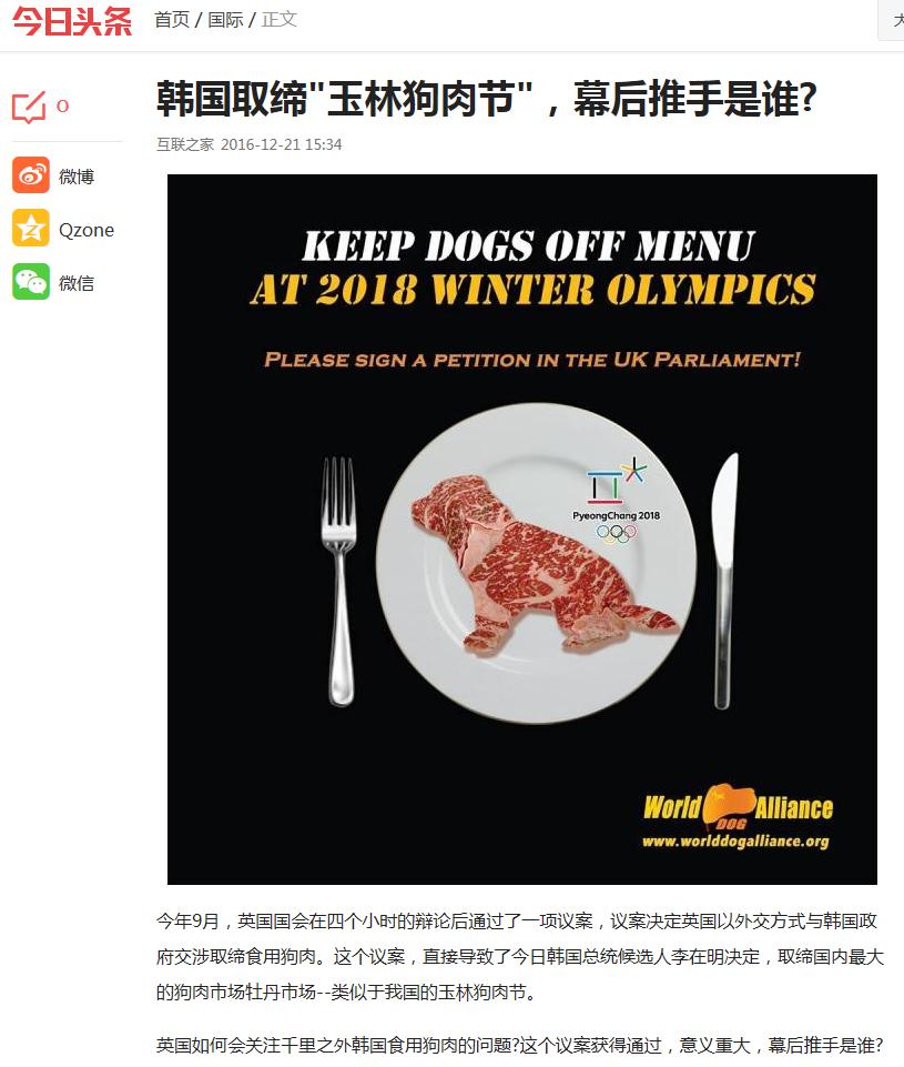 终止狗肉交易一大步  南韩牡丹市场(Moran)被取缔 – 幕后推手是谁?